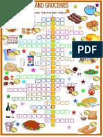 Food Drinks and Groceries Crosswords Crosswords
