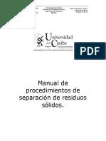 Manual de procedimientos de separación de residuos sólidos.pdf