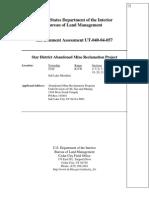 BLM Star District mine reclamation EA [Environmental Assessment]
