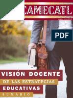 SUMARIO EHECAMECATL NO. 38- VISIÓN DOCENTE DE LAS ESTRATEGIAS EDUCATIVAS