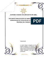 Trabajo Colegio de Abogados de Lima - Diplomado Derecho Laboral 2018