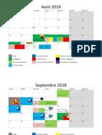 calendrier pei long 2018 2019