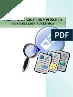 Principios Registrales en El Perú