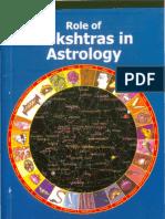 Role of Nakshatra
