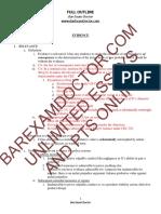 Barexamdoctor.com Evidence Outline