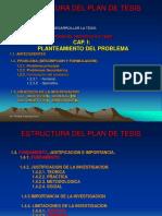 ESQUEMA DEL PLAN DE TESIS