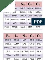 Bingo de Letras Kinder