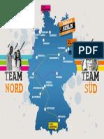Der Weg Der Teams Auf Der Landkarte