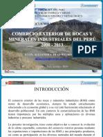 Comercio Exterior de Rocas y Minerales Industriales Del Perú