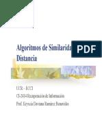 Algoritmos de similaridad y distancia