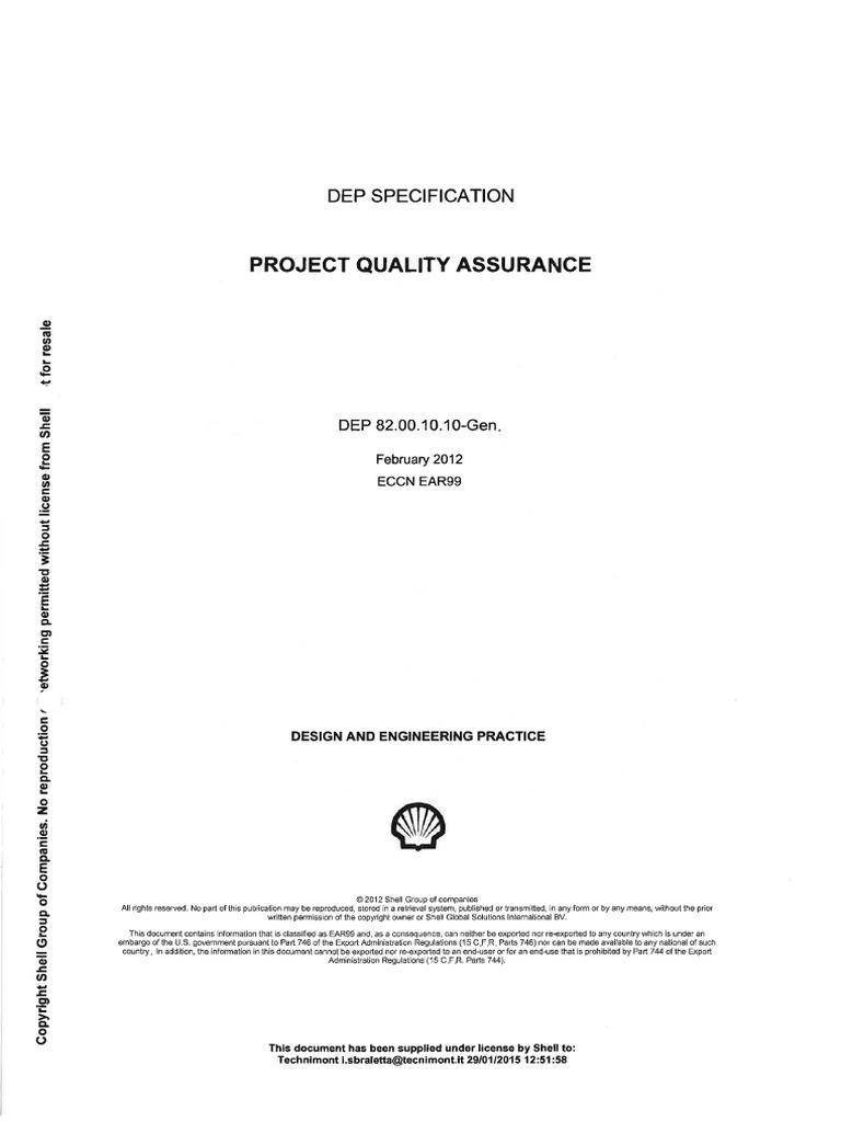 82 00 10 10 Rev 2012 02 Project Quality Plan