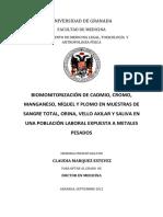 Biomonitorizacion de Cadmio Plomo...