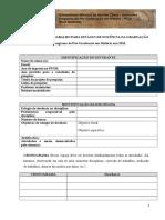 PLANO DE TRABALHO PARA ESTÁGIO DE DOCÊNCIA NA GRADUAÇÃO