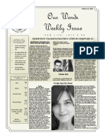 Newsletter Volume 9 Issue 35