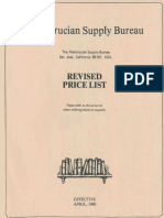 Rosicrucian Supply Bureau, Revised Price List (1980)