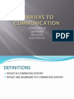 Barriers to Communication Presentation