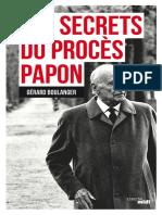 Secrets Du Proces Papon, Les - Gerard Boulanger