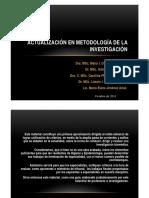 Actualización en Metodología de la investigación