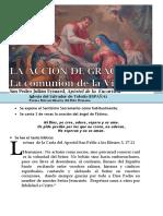 Hora Santa Con San Pedro Julián Eymard. La Acción de Gracias. Comulgar como María (51.b)