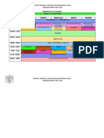 Horario de Clases Inicial 2d Elsi 1