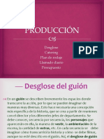 Produccion Desglose Plan de Rodaje