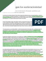 CLARIN - Luis Diego Fernandez - Socorro, Llegan Los Aceleracionistas