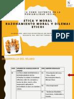 Sesión 1 - Etica y Moral. Dilemas Eticos