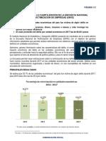 RESULTADOS DE LA CUARTA EDICIÓN DE LA ENCUESTA NACIONAL DE VICTIMIZACIÓN DE EMPRESAS(ENVE)