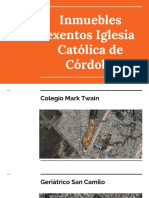 Inmuebles Exentos Iglesia Católica de Córdoba