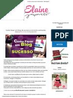 Como Fazer Um Blog de Sucesso e Torná-lo Conhecido - _ Elaine Gaspareto
