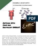 co  ccc 5 energy and matter - six word memoir assignment