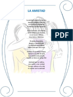Poema La Amistad