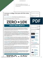 Zero a 10K Visitas Ao Site Por Mês
