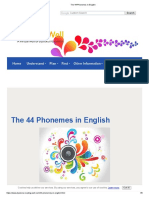 The 44 Phonemes in English