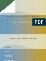 Clase 1 Psicologia y Produccion Cultural 2011