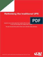 201701 CET Power - Whitepaper - No Break vs Conventional UPS