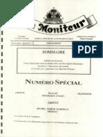 Arrete Sanctionant Pour Sortir Leur Plein Et Entier Effet Les Documents Standars Relatif a l'Evaluation Des Offres