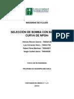 Maquinas de Flujos-tarea-seleccion Bomba Con Base a La Curva Npshr-guillen-otero-perez-rincon-docx