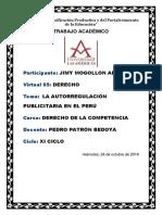 TRABAJO de INVESTIGACION_La Autorregulación Publicitaria en El Perú