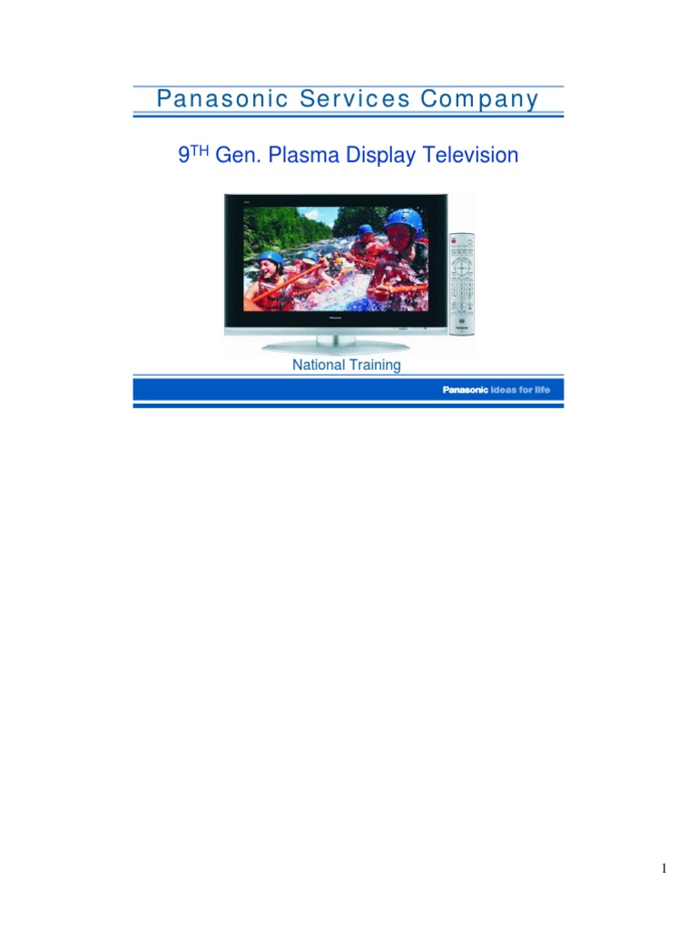Panasonic 9th Generation Plasma Display Repair Training Manualet 2005 Lg 50 Inch Tv Screen Circuit Boards In Back Of Power Supply Video