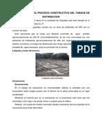 Descripción Del Proceso Constructivo Del Tanque de Distribucion Corregido