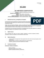 Silabo Métodos Cuantitativos 2016