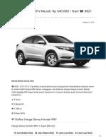 Rental & Sewa Honda HRV Harian Murah ☎ 0821 1313 0173 TravelBos.id