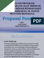 Evaluasi Program Pemeliharaan Alat Medis Di Instalasi Bedah