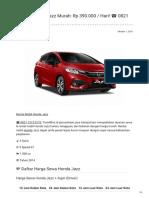 Rental & Sewa Honda JAZZ Harian Murah ☎ 0821 1313 0173 TravelBos.id