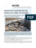 Noticia Basura en Trujillo