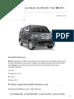 Rental & Sewa Daihatsu Luxio Harian Murah ☎ 0821 1313 0173 TravelBos.id