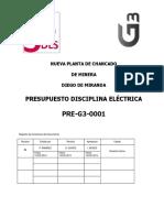 Pre g3 0001_presupuesto Disciplina Electrica
