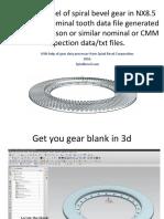 Make 3d CAD Model of Spiral Bevel.115110106