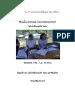 Manual de Aprendizaje Ciencias Naturales 3 y 4